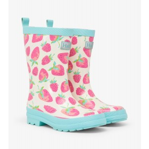 Delicious Berries Strawberries Shiny Kids Rainboots Gumboots By Hatley