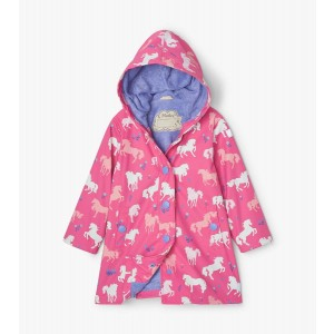 Painted Pasture Horses Colour Changing Kids Splash Jacket By Hatley