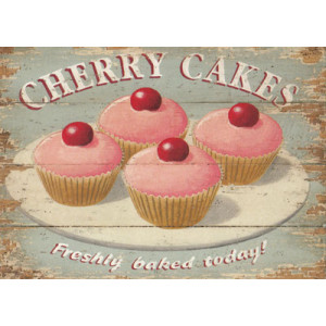 Cherry Cakes Greeting Card by Martin Wiscombe