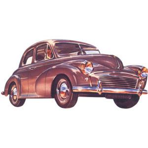 Morris 1950s Car Postcard