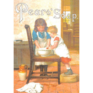 Pears Soap Wash Our Hands Nostalgic Postcard
