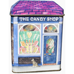 Small Decorative Tin Collectable Storage The Candy Shop