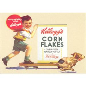 Kelloggs Corn Flakes Nostalgic Postcard