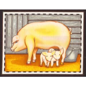 Pig Fabric Panel