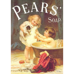 Pears Soap His Turn Next Nostalgic Postcard