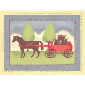 Horse & Cart Fabric Panel