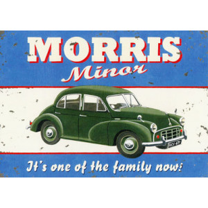 Morris Minor Car Greeting Card by Martin Wiscombe
