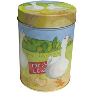 Geese Farm Animal Emma Ball Tin Kitchen Canister