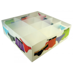 Mens Underwear Divided Plastic Storage Box