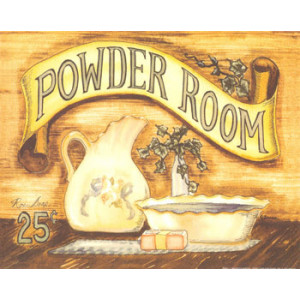 Powder Room 8 x 10 Country Print