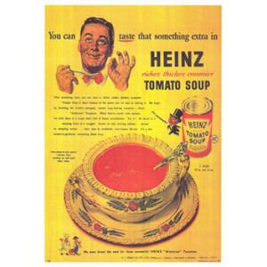 Heinz Tomato Soup Nostalgic Postcard