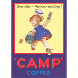 Camp Coffe Girl Mabel Lucie Attwell Nostalgic Postcard