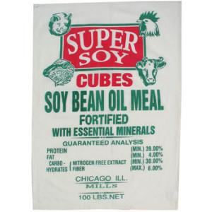 Farm Animals Super Soy Cubes Feedsack Tea Towel
