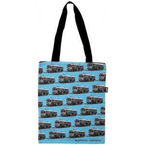 Shopping Carry Bag Melbourne City Circle Tram Blue