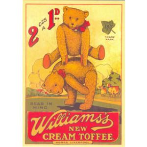 Williams Toffees Teddy Bears Nostalgic Postcard