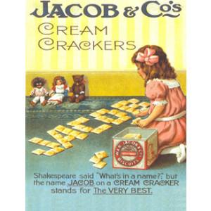 Jacob & Cos Cream Crackers Nostalgic Postcard