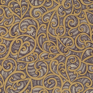 New Zealand NZ Maori Te Koripi Wae Tan Quilt Fabric