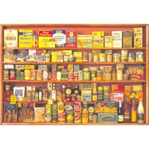 World War Two Grocery Food Shelf Postcard