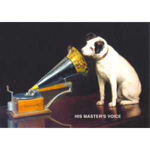 His Masters Voice Dog Postcard