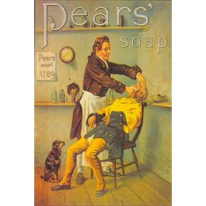 Pears Soap Barber Nostalgic Postcard