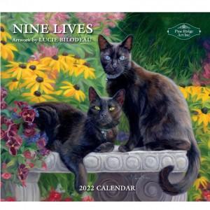 Nine Lives 2022 Pine Ridge Art Wall Calendar By Lucie Bilodeau