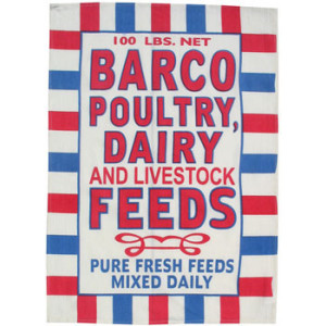 Barco Poultry Dairy Feedsack Tea Towel
