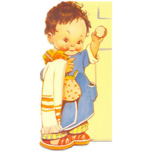 Mabel Lucie Girl With Soap Postcard