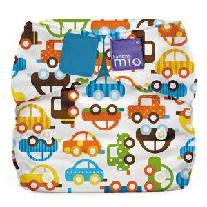 Modern Cloth Baby Nappy Reusable Adjustable Diaper Cars Traffic Jam