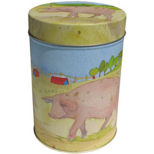 Pig Farm Animal Emma Ball Tin Kitchen Canister