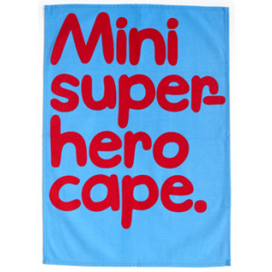 Mini Super Hero Cape Waldo Pancake Tea Towel