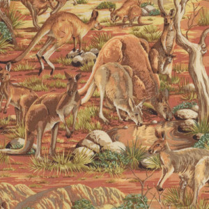 Australian Kangaroos Outback Quilting Fabric