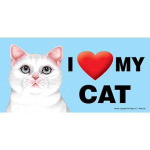 I Love My Cat Fridge Office Fun Magnet White
