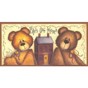 Bless Our Home Teddy Bear 3.5 x 7 Print