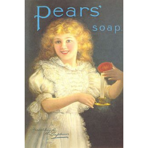 Pears Soap Girl & Candle Nostalgic Postcard