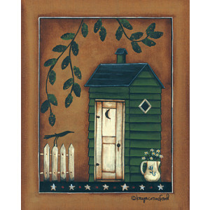 Country Green Shed 8 x 10 Print