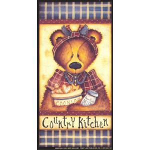 Teddy Bear Country Kitchen 3.5 x 7 Print