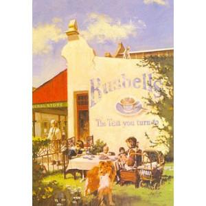 Bushells Store & Dog Nostalgic Postcard