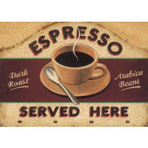 Espresso Dark Roast Arabica Beans Greeting Card by Martin Wiscombe