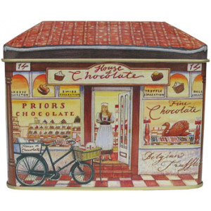 House of Chocolate Shop Tin