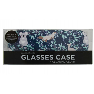 Aussie Animals Design Glasses Case and Eyeglasses Cleaning Cloth