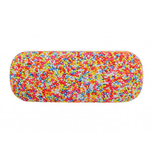 Glasses Case with Eyeglasses Cleaning Cloth Hundreds and Thousands
