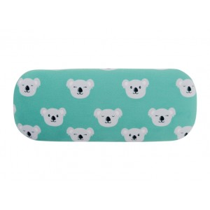 Glasses Case with Eyeglasses Cleaning Cloth Cute Koala Face