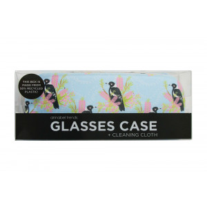 Magpie Design Glasses Case and Eyeglasses Cleaning Cloth