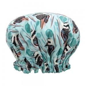 Ladies Girls Elasticised Shower Cap Big Kookaburra Design Australian Made