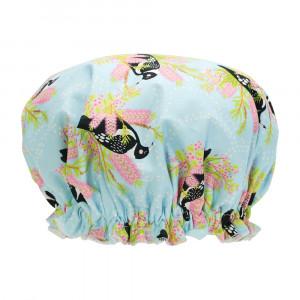 Ladies Girls Elasticised Shower Cap Magpie Design Australian Made