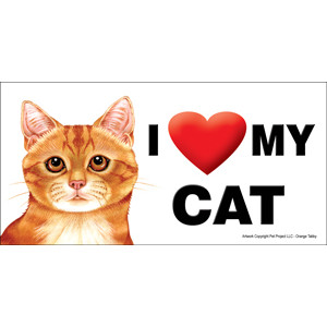 I Love My Cat Fridge Office Fun Magnet Ginger Tabby