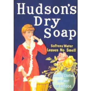 Hudsons Dry Soap Nostalgic Postcard