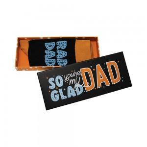 Mens Fun Novelty Boxed Socks Glad You're My Dad