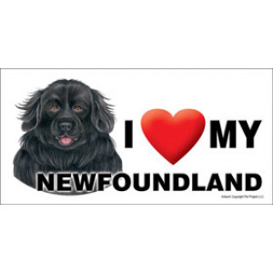 I Love My Newfoundland Dog Fridge Office Fun Magnet