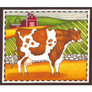 Cow Fabric Panel